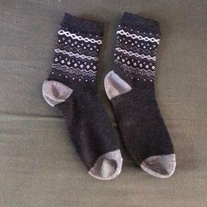 Grey crew socks